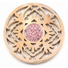 Rose Gold Tree Coin avec Rose Zirconia