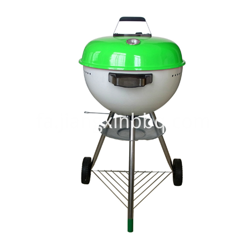 18 Kettle Charcoal Grill Green View