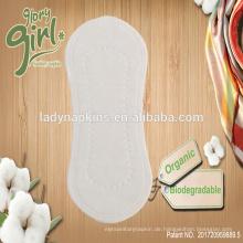 Natürliche organische Baumwolloberflächen-Großhandels-Damen-Panty Liners Factory China