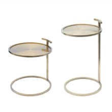 Simple fashion stainless steel round side table