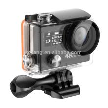Câmera de ação original esportes à prova d 'água câmera dv hd dual screen ambarella a12 ultra hd 4 k 30fps dvr capacete filmadora