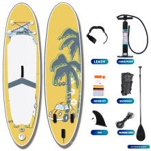 Superior 2021 China Fctory Popular Water Sport Board Allround Transparent SUP Paddle Board Inflatable Stand Up Paddle Board Pupm