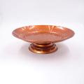 7.5 polegadas rodada ouro pintado aço inoxidável frutas servindo banquete placa
