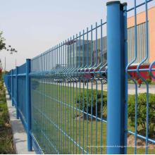 Clôture soudée de sécurité soudée de PVC de prix bas