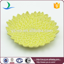 Wholesale green ceramic decorative plate