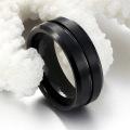 Anéis de tungstênio logotipo personalizado gravado para homens