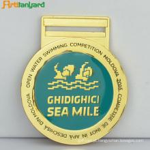 Medalha de ouro promocional com logotipo do cliente