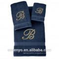 100% Turkish Cotton Jacquard Towel set with logo, Multi color selection HTS-136 wholesale