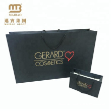 Elegent Design Cosmetic Shopping Rope Handle Custom Printed Paper Bags With Your Own Logo