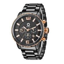 2017 Badatong Hot-Sell Solar Watch, hombre cronógrafo de cerámica, reloj solar OEM