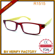 Thin Clear Frame 100% Handmade Natural Bamboo Temples Reading Glasses for Summer China Manufacturer R1516