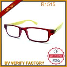 Fina moldura clara 100% Handmade Natural bambu templos óculos de leitura para o verão China fabricante R1516
