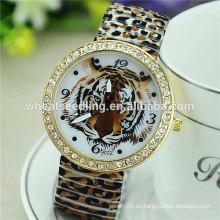 Reloj más nuevo de la impresión de la flor de la venda de la aleación del diseño de la alta calidad