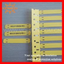 Etiquetas de marcador de cabos de baixo risco de incêndio
