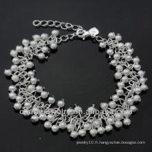Bracelet en argent sterling forfait en usine pour femme BSS-012