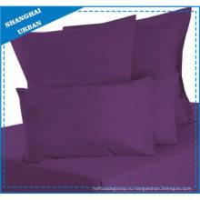 Простыня из фиолетового хлопка твердого цвета