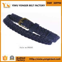 Unique moda trançado couro corda Belt
