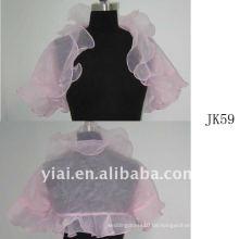 J59 Frauen Perlen lange Ärmel Hochzeit Jacke