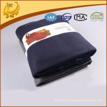 Hochwertiger modischer preiswerter Preis gesponnener gebürsteter einfacher Snuggle-Verpackungs-Decke