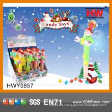 Juguete suave plástico plástico del ventilador del caramelo de la Navidad (caja de 12pcs / Display)