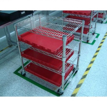 Adjustable NSF Hospital Drugstore Display Storage Bin Rack