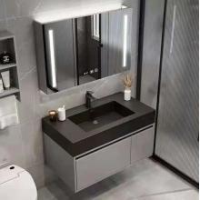 Wood MDF Marble Bathroom Vanity Cabinet