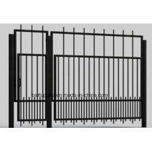 Portes de fer de porte en métal de yard de HDG avec l'extrémité pointue pour la sécurité