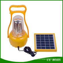 Función completa Solar LED Camping Linterna Solar Lámpara de emergencia USB recargable con cables