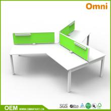 Новый стиль 120 градусов офисной мебели стол для трех человек