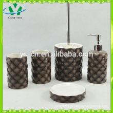Наборы аксессуаров для ванных комнат из натурального камня