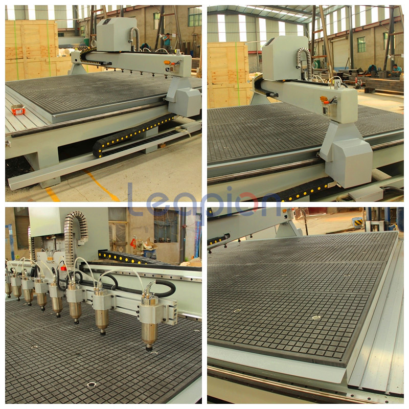 8 head and Vacuum table
