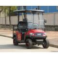 Chariot de golf électrique couleur rouge en métal avec siège pliable