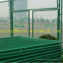 Basketball Stadium Chain Link Fechten / PVC beschichtet Kette Link Zaun