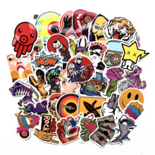 100 PCS Not Repeat  JDM Car Motorcycle Luggage Decal Die Cut Vinyl Graffiti Stickers