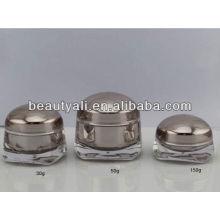 Embalagem cosmética recipiente acrílico
