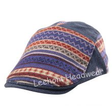 Embroidery Check Felt Fashion Sport Golf Beret Hat (LBR14005)