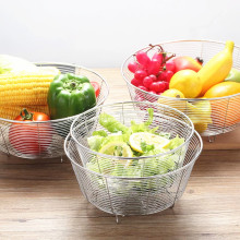 Aço Inoxidável 304 316 Cesta de Drenagem de Legumes / Frutas