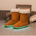 Snow Boots For Winter With Led light Glow Shoes LED Shoes