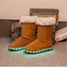 Snow Boots für Winter mit Led-Licht leuchten LED Schuhe