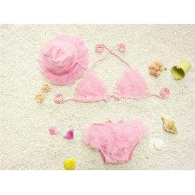 Rosa Art und Weise des kleinen Mädchens Art und Weise Badebekleidung