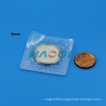 different size PVC neo round neodymium clothes magnet