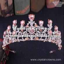 Wholesale Crystal Pageant Crowns With Color Diamonds