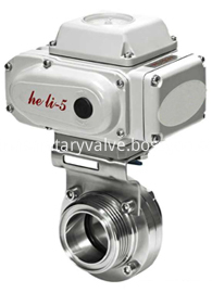 electric-actuated-sanitary-butterfly-valve-kaysen