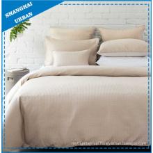Solid Sand Waffle-Design Polyester Duvet Cover Set