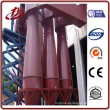 Colector multi ciclón de polvo de material de acero