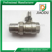 Male and Female brass plate chrome plated or nickel plating Dn20 3/4 inches CNC NPT Compression brass ball valve with fitting