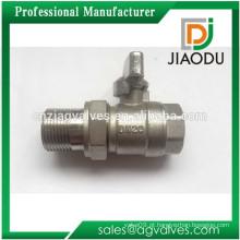 Macho e fêmea placa de latão cromado ou niquelado Dn20 3/4 polegadas CNC NPT válvula de esfera de latão de compressão com encaixe