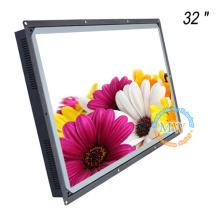Quadro aberto do ODM do OEM tela legível de TFT LCD da luz solar de 32 polegadas com nit do brilho alto 1500