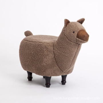 Top Quality Children Furniture Cute Wooden Animal Sheep Shape Stool