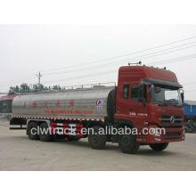 Caminhão de transporte de tanque de leite Dongfeng 8x4, caminhão de leite 22m3